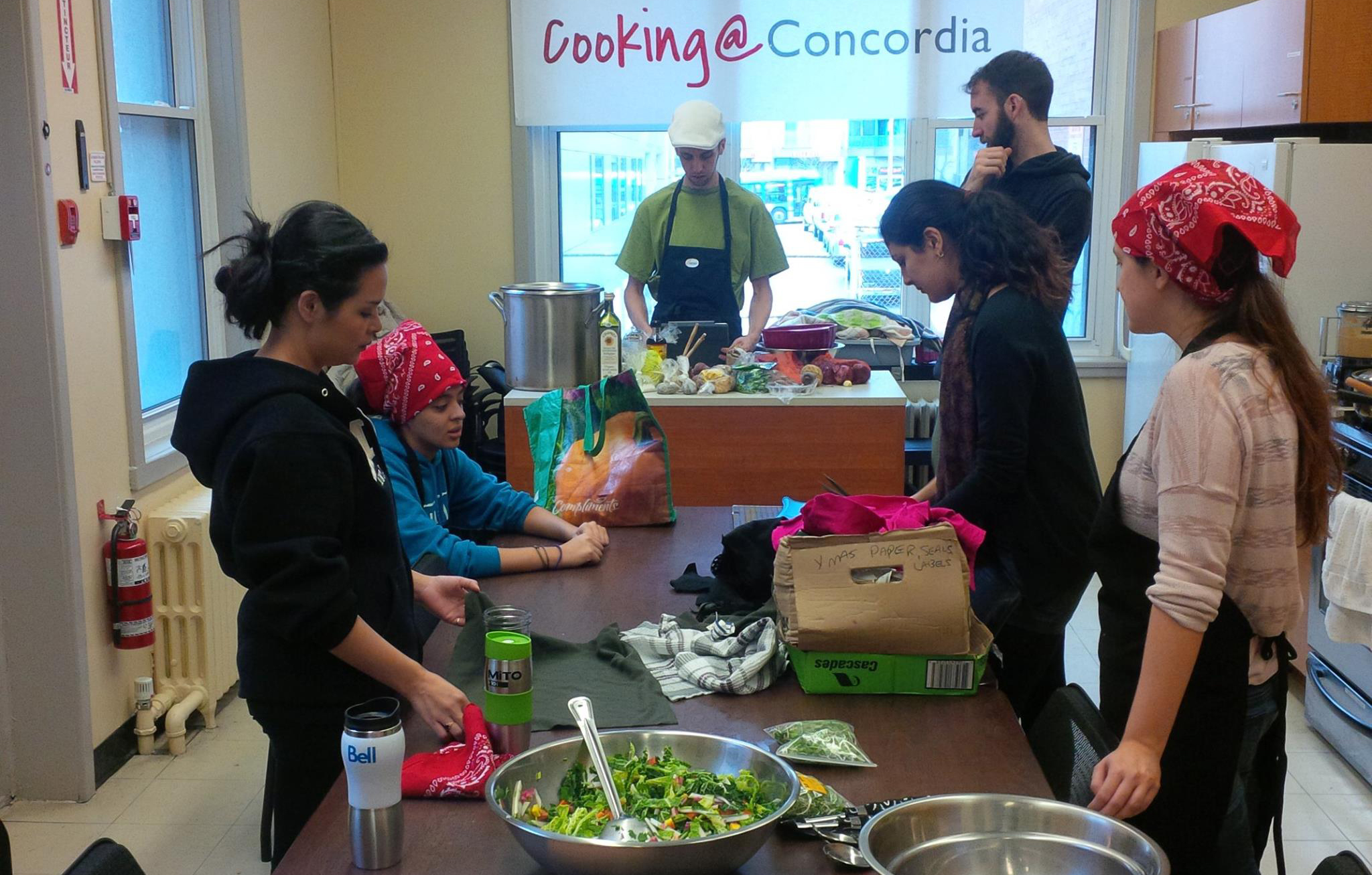 Photo: Cooking at Concordia